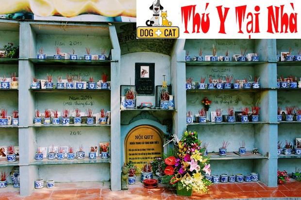 nghĩa trang chó mèo - địa chỉ chôn cất mai táng hỏa táng chó mèo